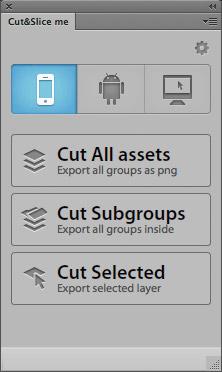 Plugin, um Photoshop-Ebenen zu exportieren.