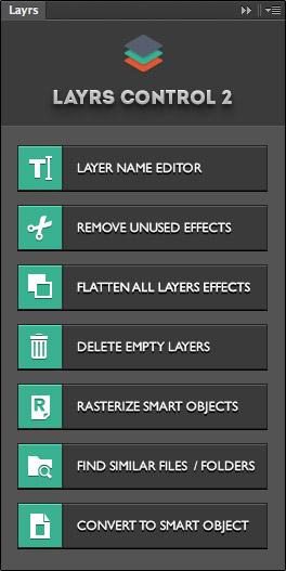 Photoshop-Plugin für Ebenen – Layrs Control.