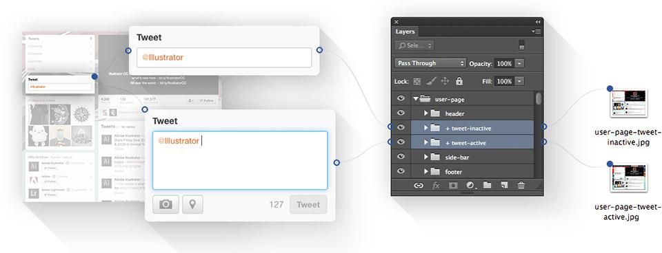 Photoshop-Plugin für den Export von Bilddateien.