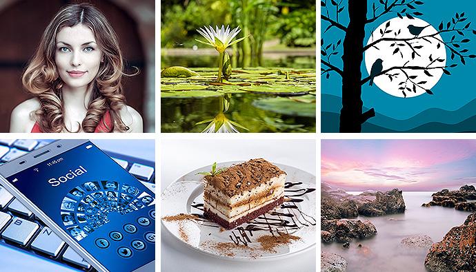 Hochauflösende Bilder, Grafiken, Videos sind bei Pixabay zu finden