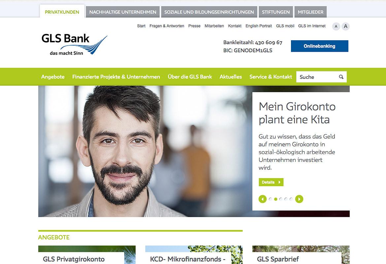 GLS Bank - Webdesign Journal Gls Bank Blz on