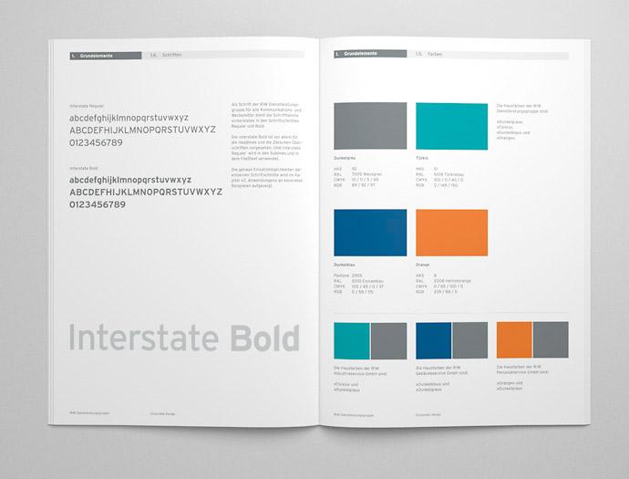 Ein Corporate Design-Handbuch definiert die einzelnen Gestaltungselemente.