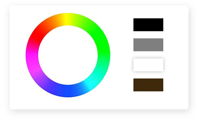 Der Farbkreis und die neutralen Farben