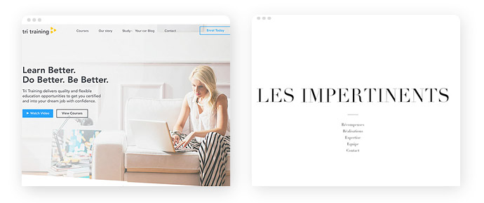 Beispiele für den Einsatz der Farbe Weiß im Screendesign