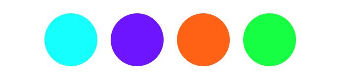 Verschiedene Farbtöne