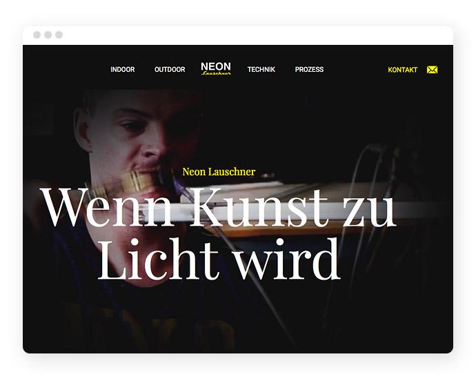 Elevator Pitch auf einer Webseite