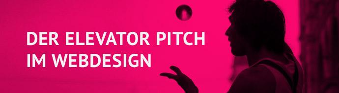 Der Elevator Pitch im Webdesign