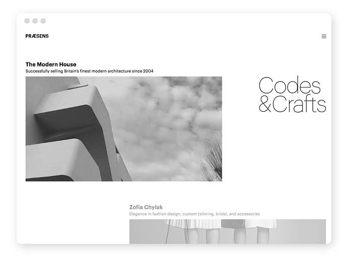 Graustufen Screendesign