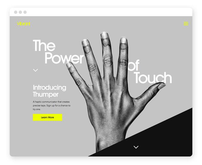 Graustufen Webdesign