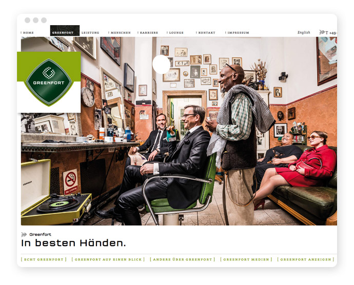 Screendesign Greenfort