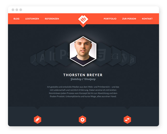 Screendesign Form Hexagon