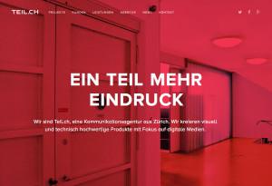 Webdesign in Rot