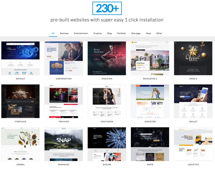 Moderne Webdesign-Templates