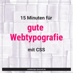 15 Minuten für gute Webtypografie mit CSS