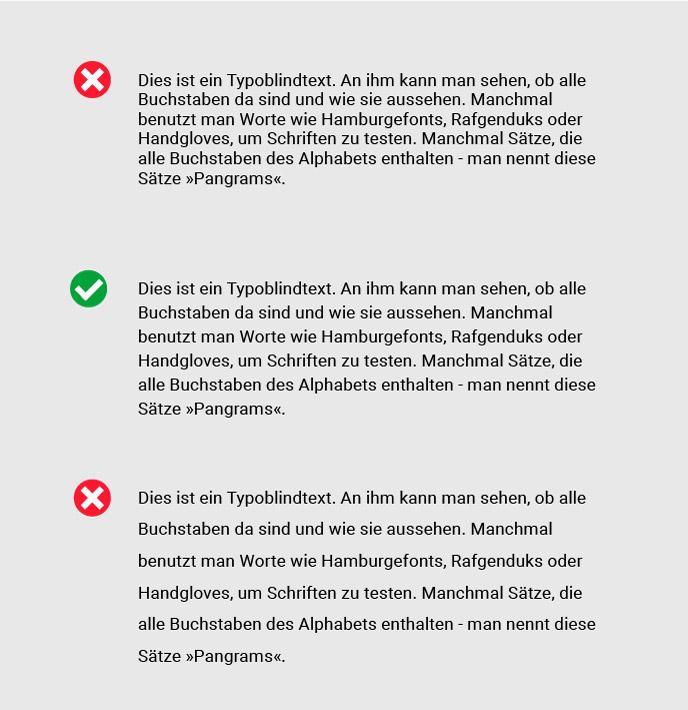 Zeilenabstände im Webdesign