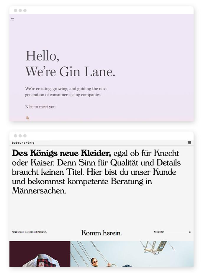 Fette Typografie – Webdesign Trends