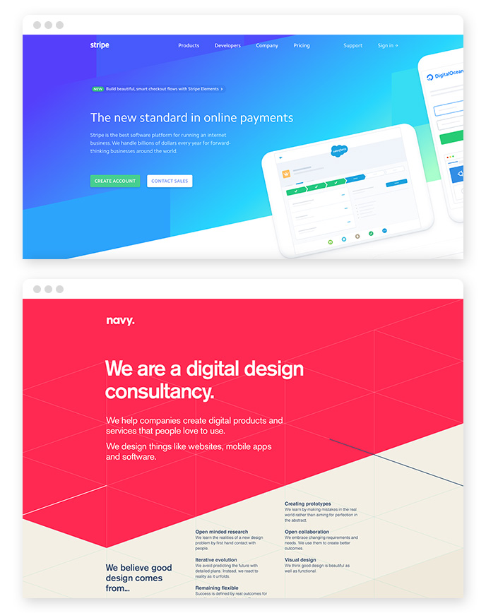 Non Rectangular Headers Webdesign Ttrend