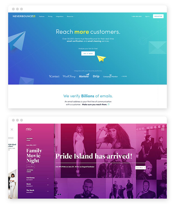 Gradient Webdesign Trends