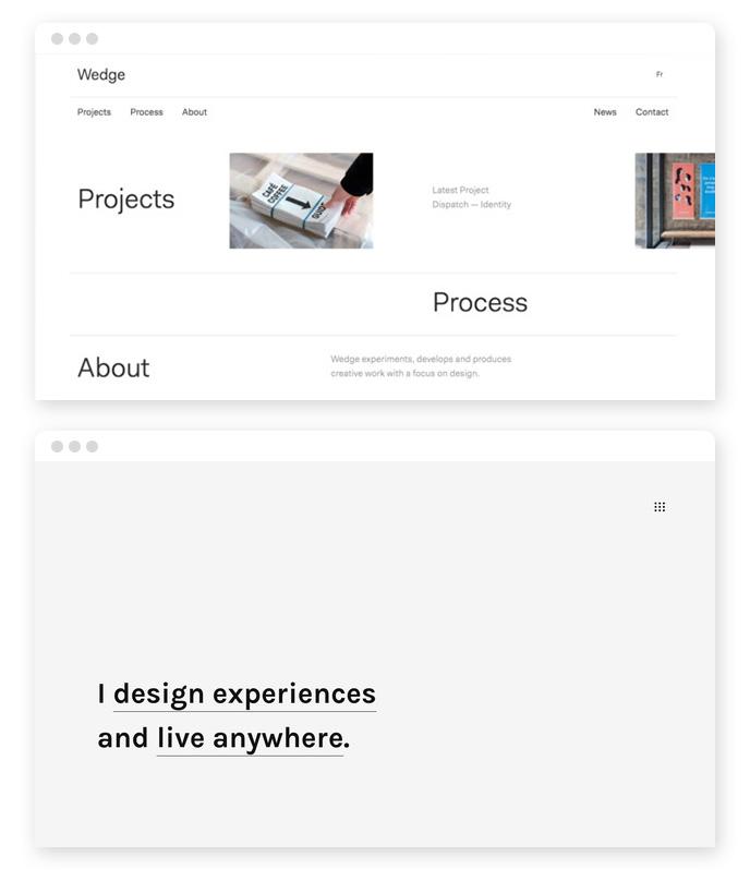 Minimalismus Webdesign Trend