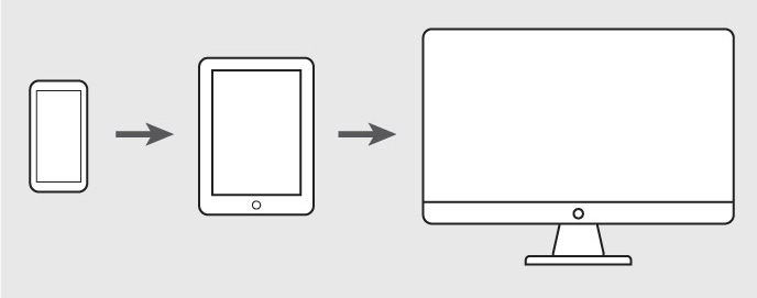 Mobile first – Webdesign Trend