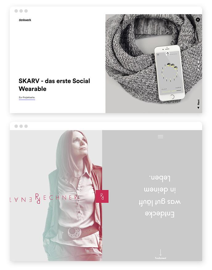Split Screen Webdesign Trend