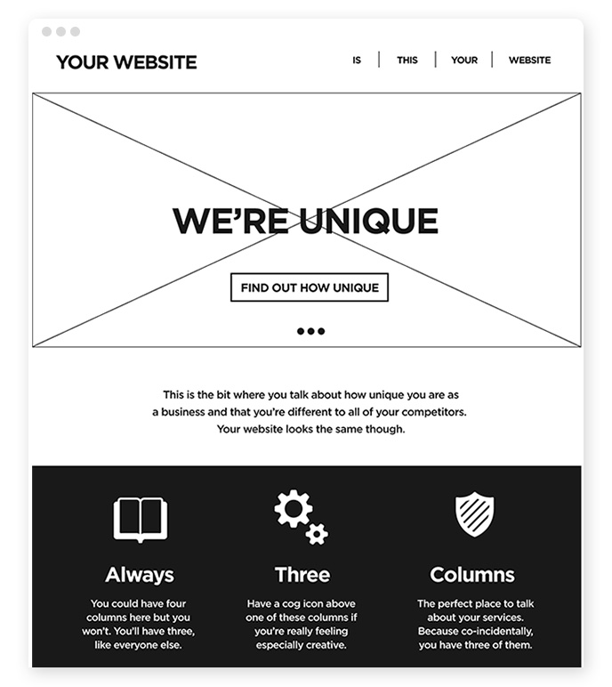 Webdesign Standard Layout