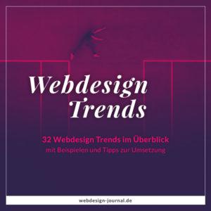 Aktuelle Webdesign-Trends im Überblick