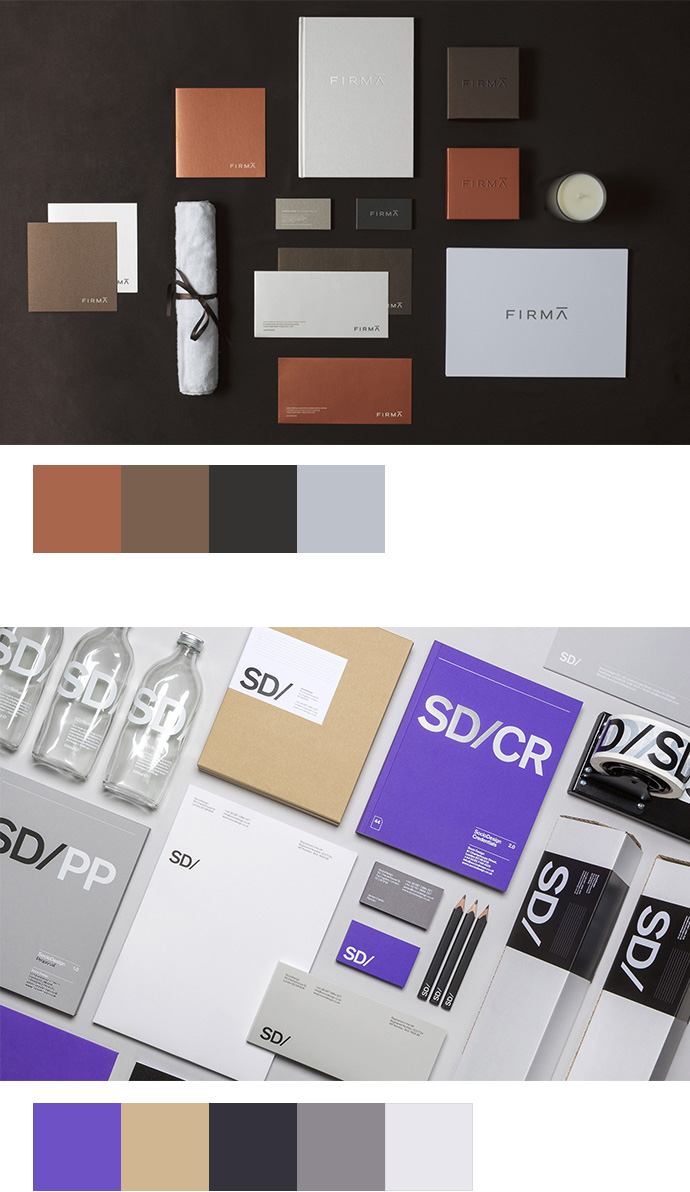 Farbinspirationen Brandings Corporate Designs