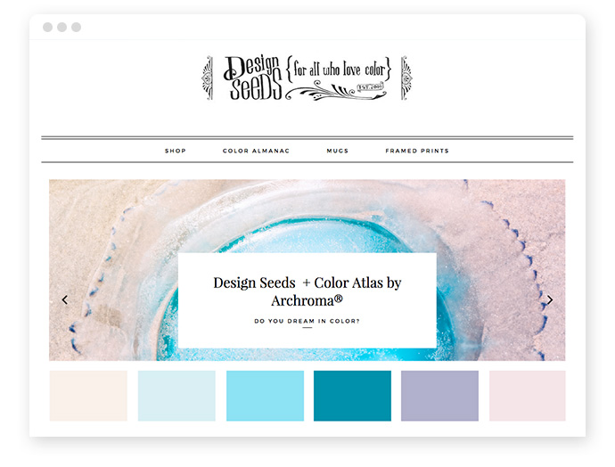 Farbkombinationen von Farbinspirations-Websites