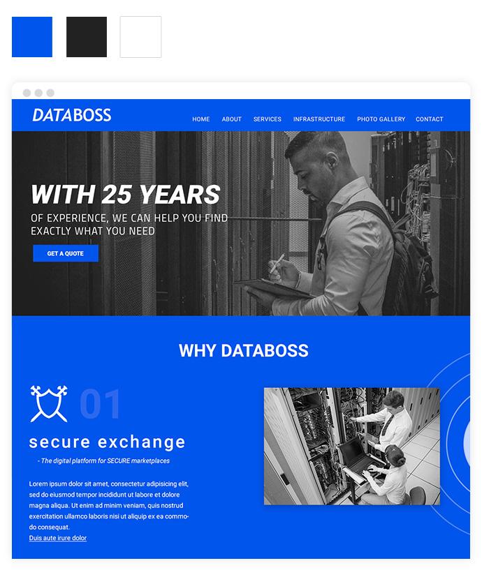 Screendesign Trendfarbe Blau