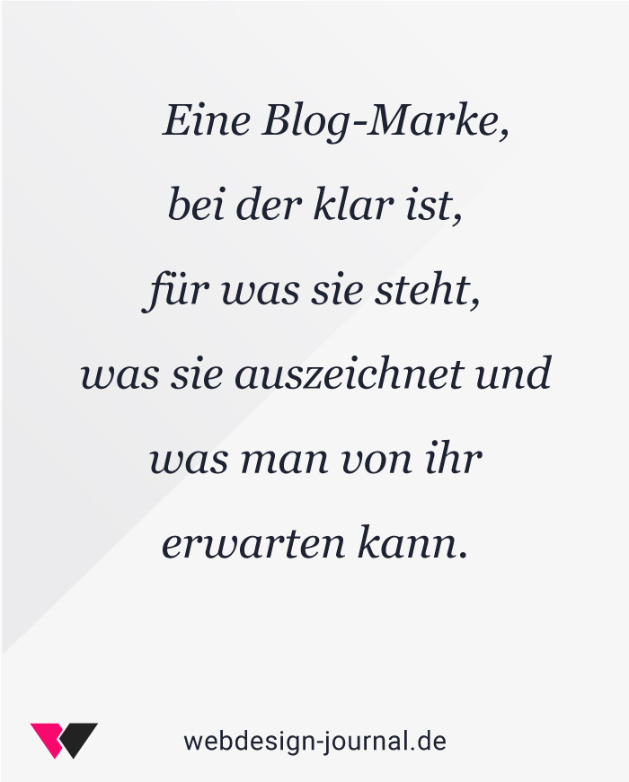 Blog-Marke zur Positionierung.
