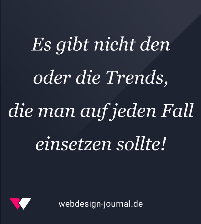 Trends im Webdesign
