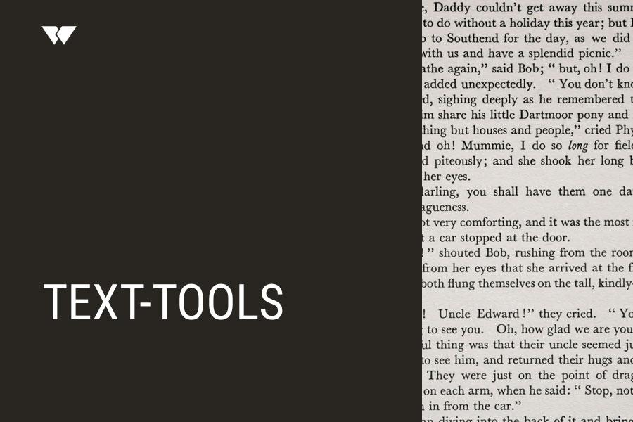 Text-Tools – Webdesign Journal