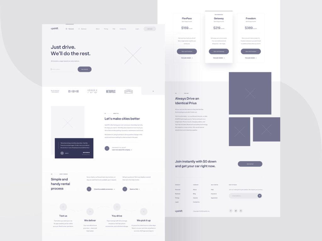 Wireframes im Webdesign