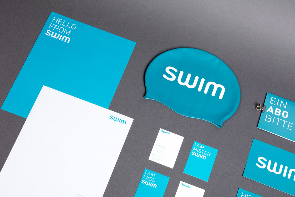 Blaues Corporate Design im Branding