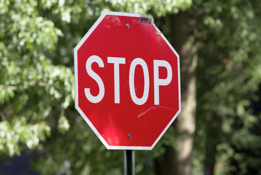 Farbwirkung Rot Stopschild