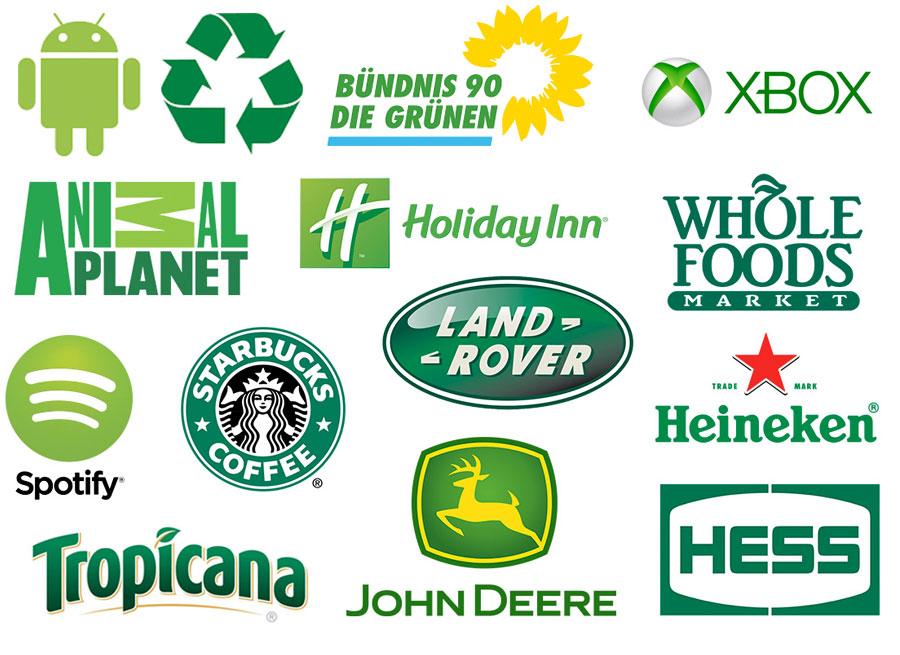 Grüne Logos
