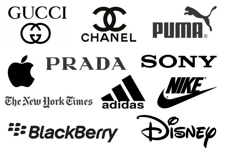 Logos in Schwarz