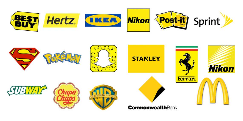 Logos in Gelb