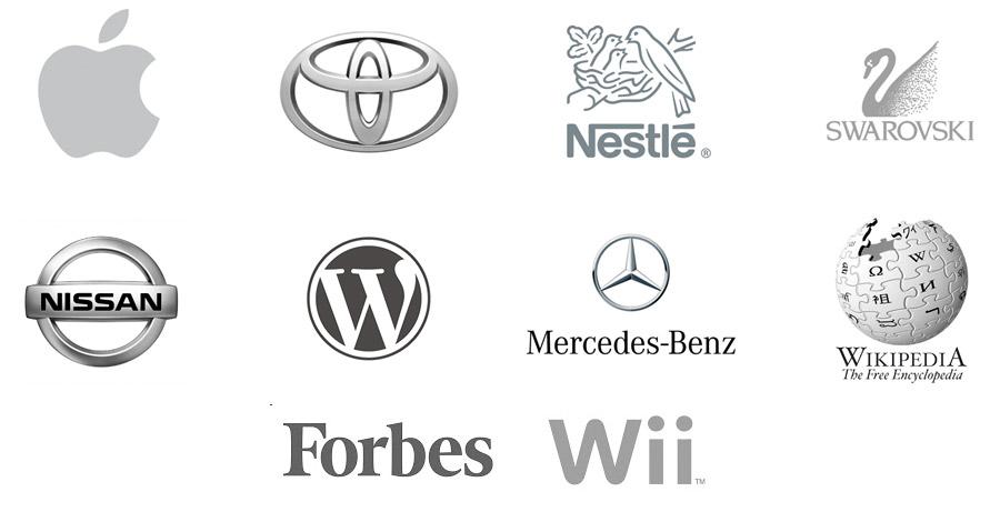 Logos in Grau