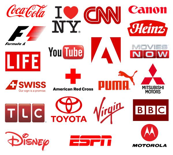 Logos in Rot