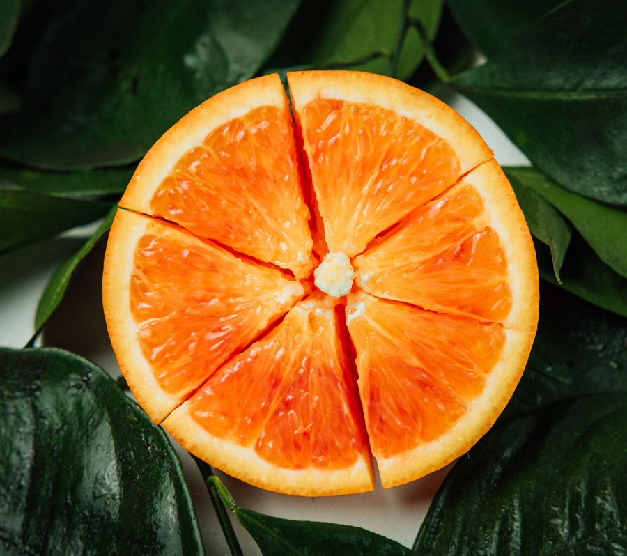 Wirkung Orange Farbton