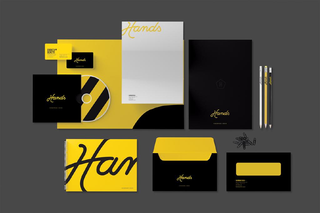 Schwarzes Corporate Design im Branding