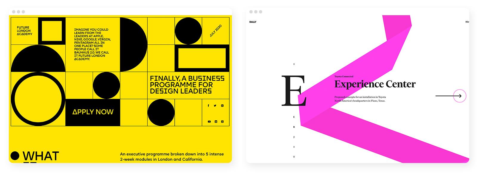 43 wichtige und aktuelle Webdesign-Trends im Überblick 5