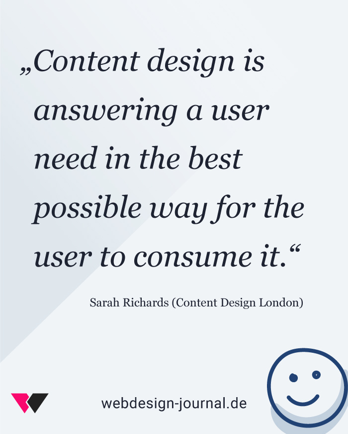 Content Design & User Needs