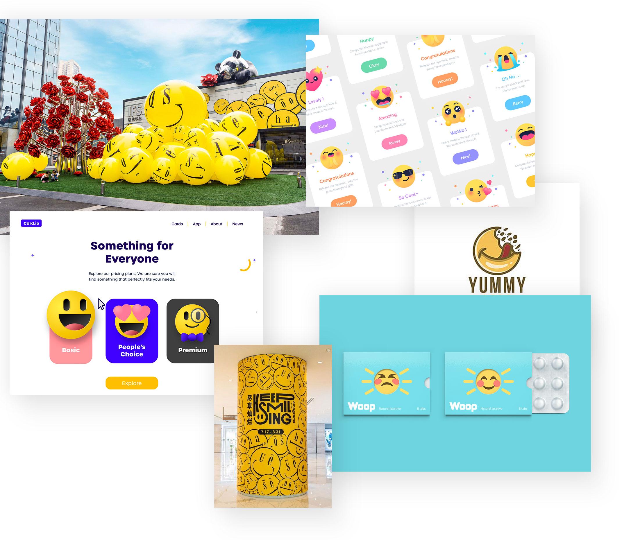 Emojis Illustrationen