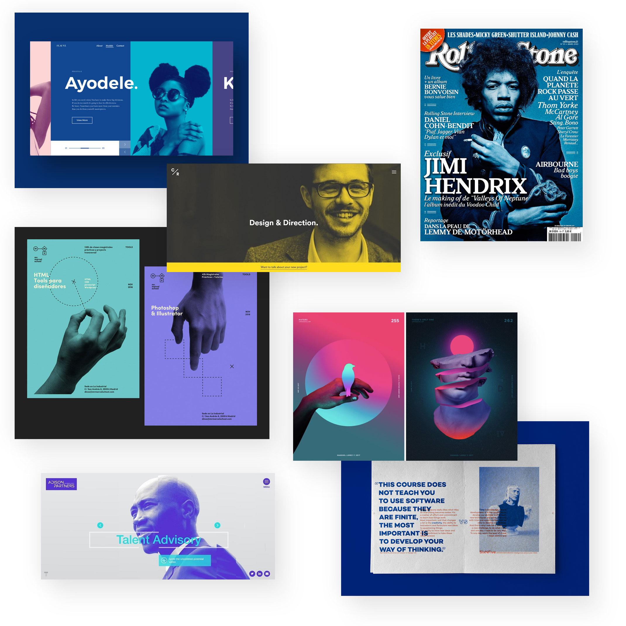 Monochrome / Duotone Farben
