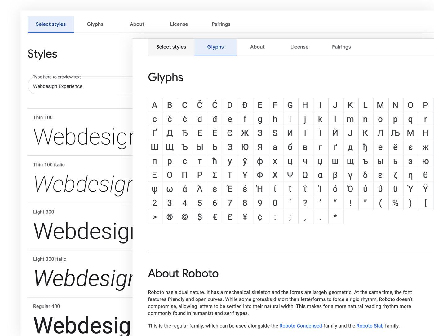 Google Fonts – Schriftvorstellung