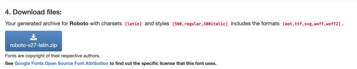 Der Gogle Webfonts Helper – Fonts downloaden