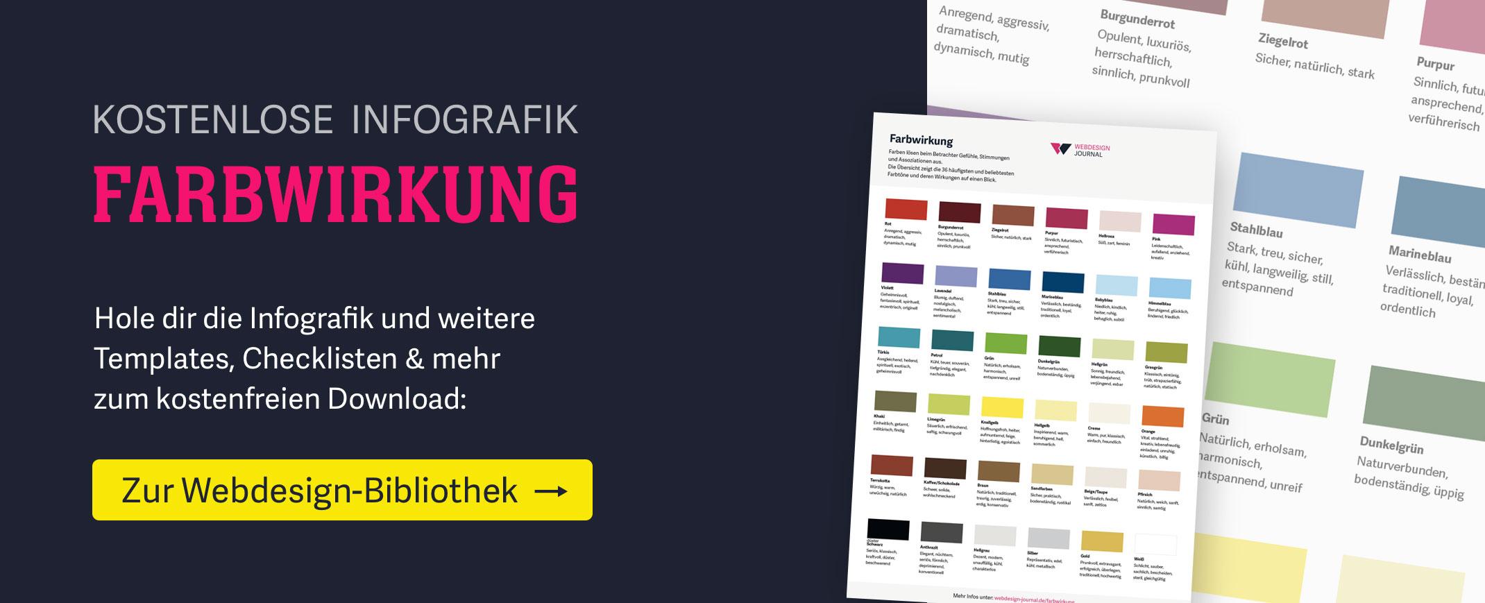 Kostenlose Infografik Farbwirkung